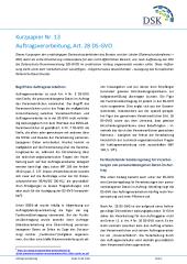 Kurzpapier Nr 13 Auftragsverarbeitung Art 28 Ds Gvo Uld