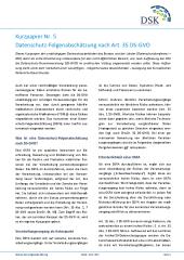 Kurzpapier Nr 5 Datenschutz Folgenabschätzung Nach Art 35 Ds Gvo